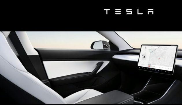 Tesla front seat