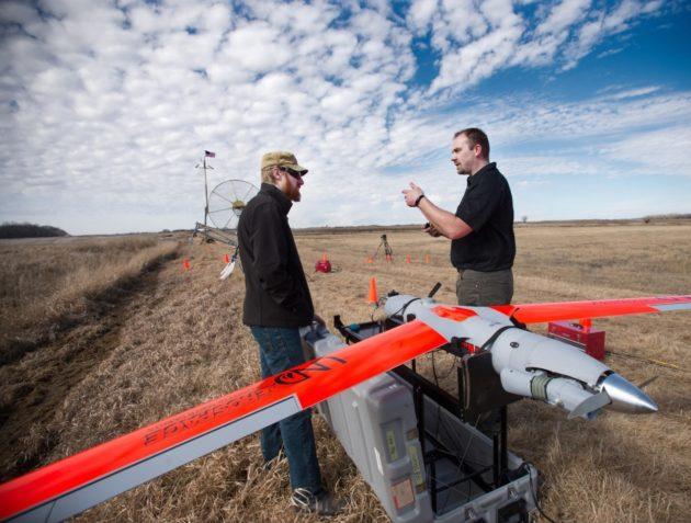 UND drone in field