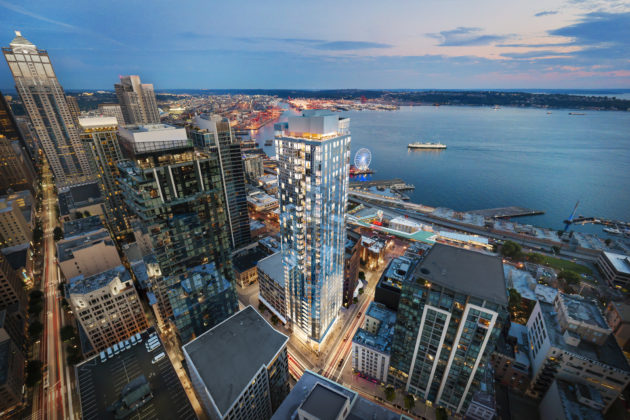 This new Seattle high-rise condo tower will come with a fleet of Teslas that residents can rent