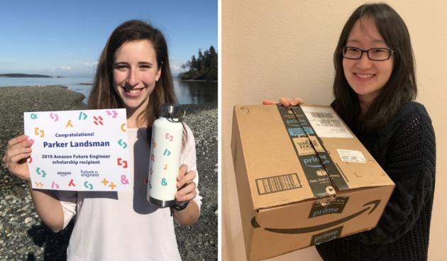 Three Washington girls among 100 winners of first 'Amazon Future