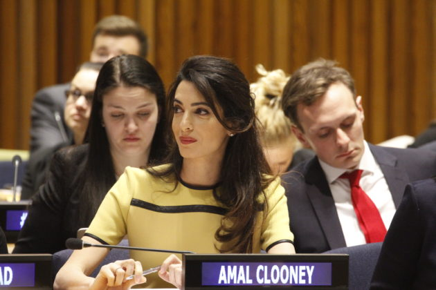 Amal and George Clooney partner with Microsoft on app to