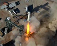 Blue Origin New Shepard liftoff