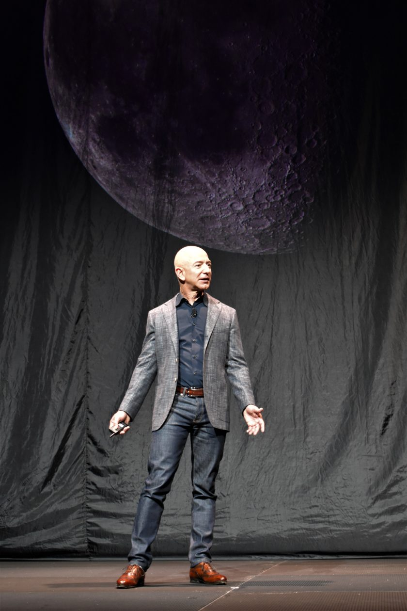 Jeff Bezos and moon