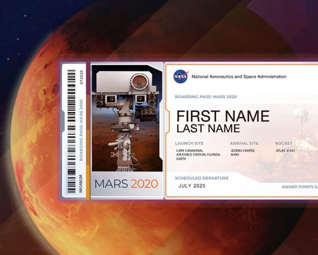 Send in your names to fly aboard the rover to Mars