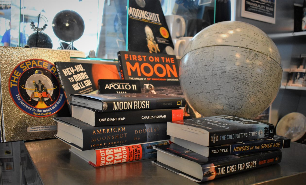 Fifty years after the first lunar landing, Apollo moonshots inspire a new blast of books