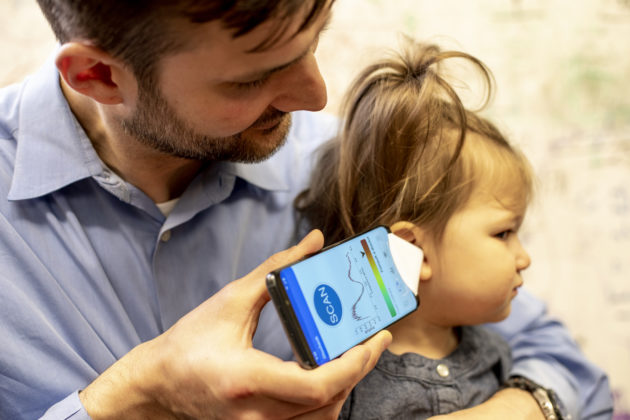 Smartphone used to sound out sign of kids' ear infections