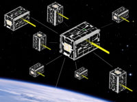 Swarm of satellites