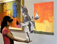 AR rendering of Picasso painting