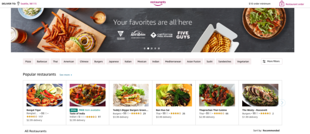 Amazon to shut down its Amazon Restaurants business in the
