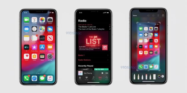 iOS 13 Leaked Dark Mode screenshots