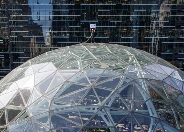 From Prime location atop The Spheres in Seattle, Jeff Bezos