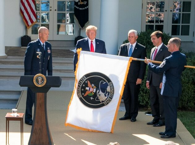 U.S. Space Command flag rollout