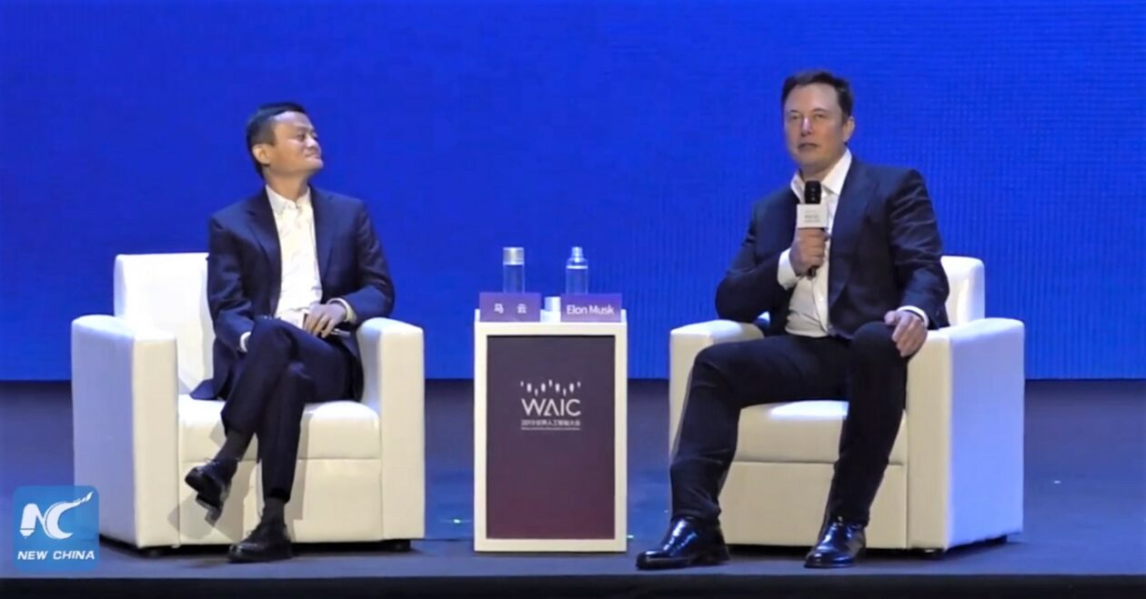 Billionaires Jack Ma and Elon Musk debate good, evil and AI at conference in China
