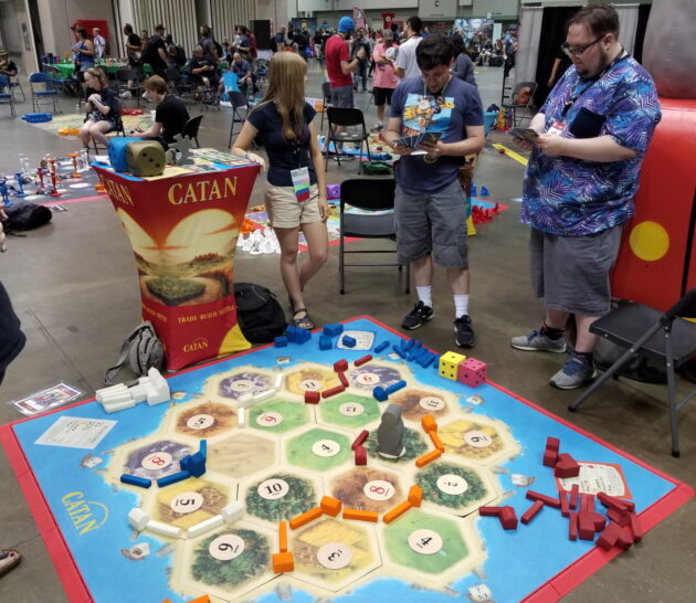 A giant game of Catan takes place at Gen Con