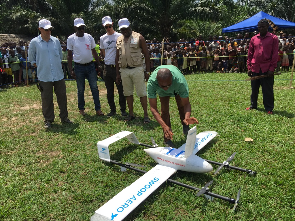Drones swoop into the Congo to strengthen the country's vaccine