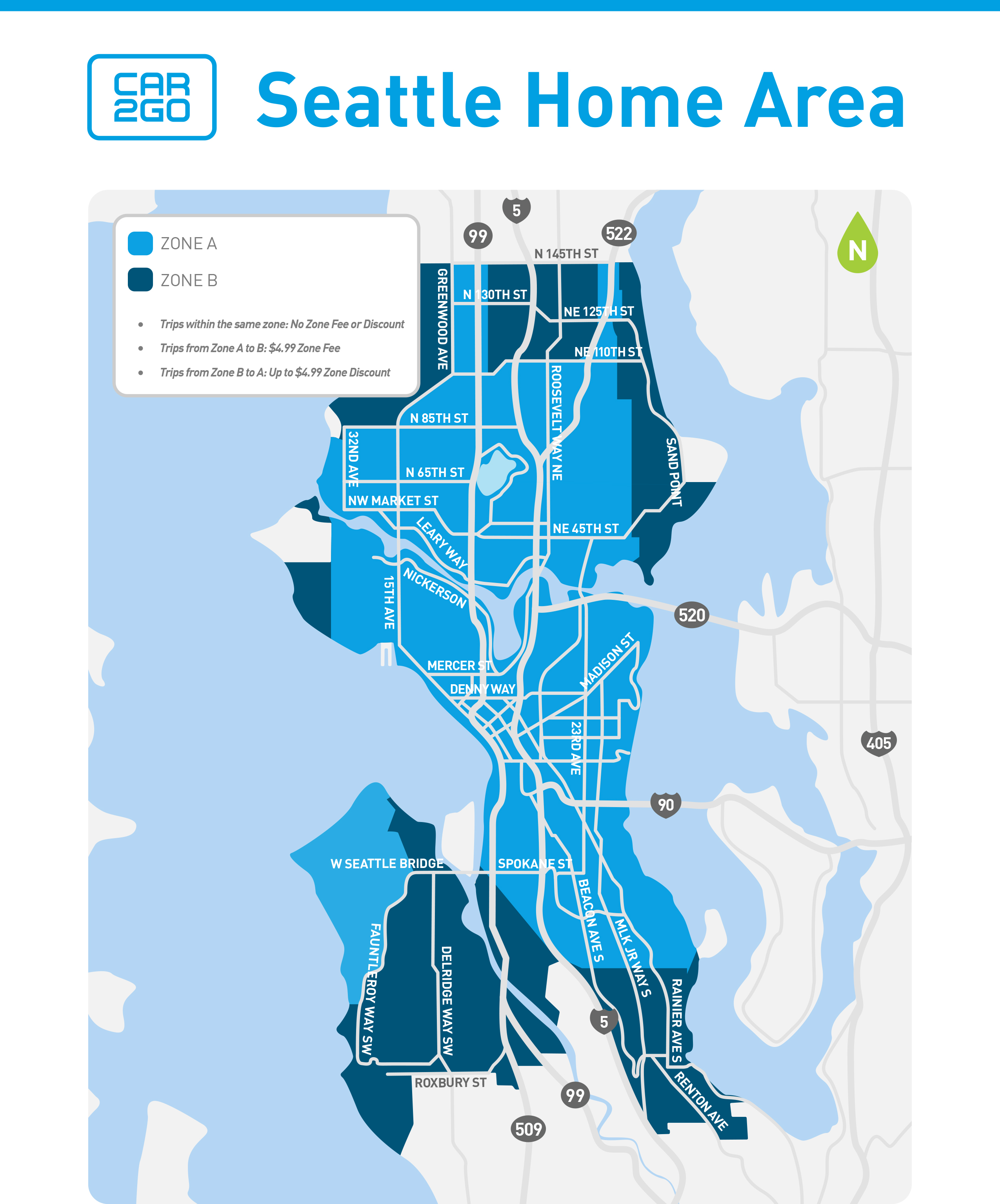 Car To Go Seattle >> Car2go Adds New Zone Based Pricing Structure In Seattle To