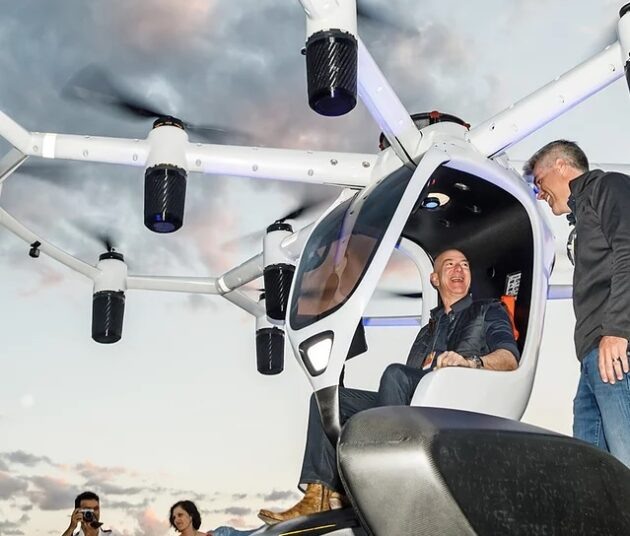 Jeff Bezos in Lift's Hexa ultralight