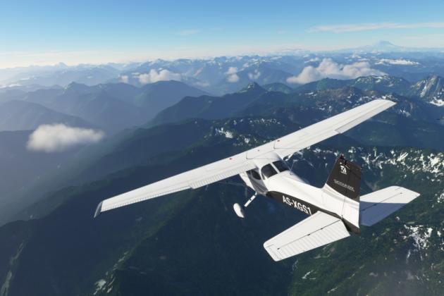 Cessna 172 SP in Flight Simulator