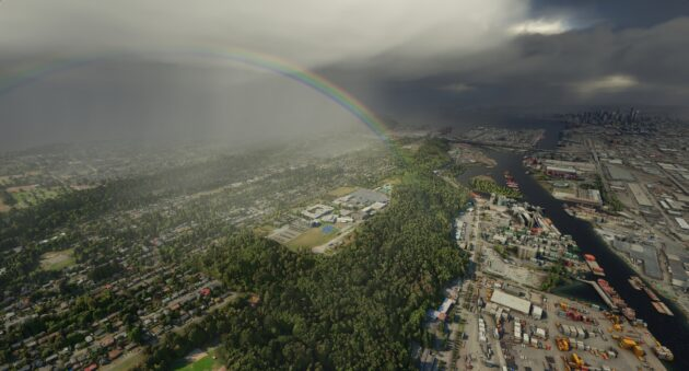 Rainbow in Flight Simulator