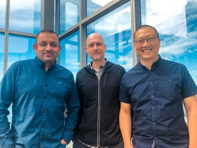 Studio216 passe au démarrage d'une réalité mixte, recueille 1,1 million de dollars et cherche à renforcer son partenariat avec Microsoft – Newstrotteur Bharat Ahluwalia Jamie Fleming Charlie Choo left to right 630x473