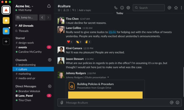 Slack gets a Dark Mode on desktop – GeekWire
