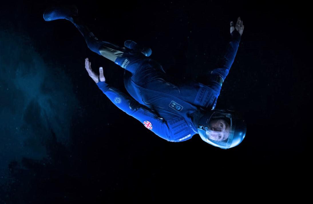 Spacesuit with helmet