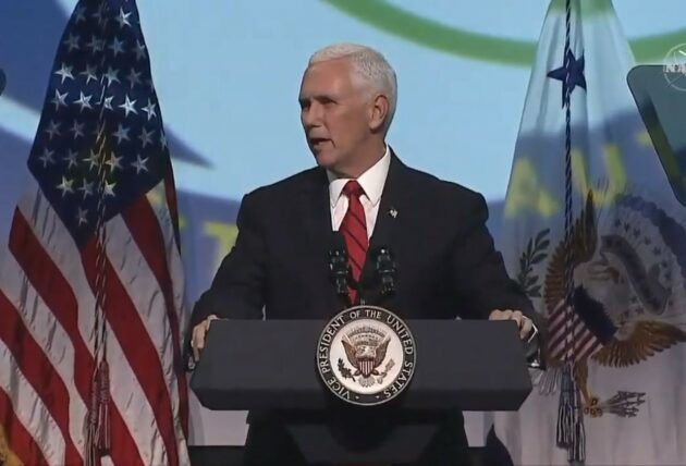 VP Mike Pence talks up property rights as he opens international space conference