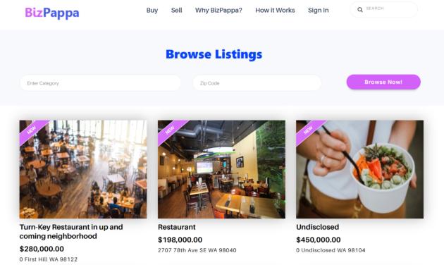 BizPappa aide à stimuler l'entrepreneuriat avec une plateforme pour acheter et vendre des petites entreprises – Newstrotteur BizPappa website2 630x376
