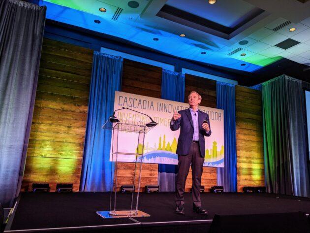 Microsoft accueille le sommet de Seattle sur le train à grande vitesse reliant les villes du nord-ouest du Pacifique – Newstrotteur brad smith cascadia 630x473