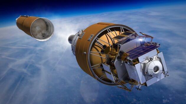 Boeing lunar lander in space
