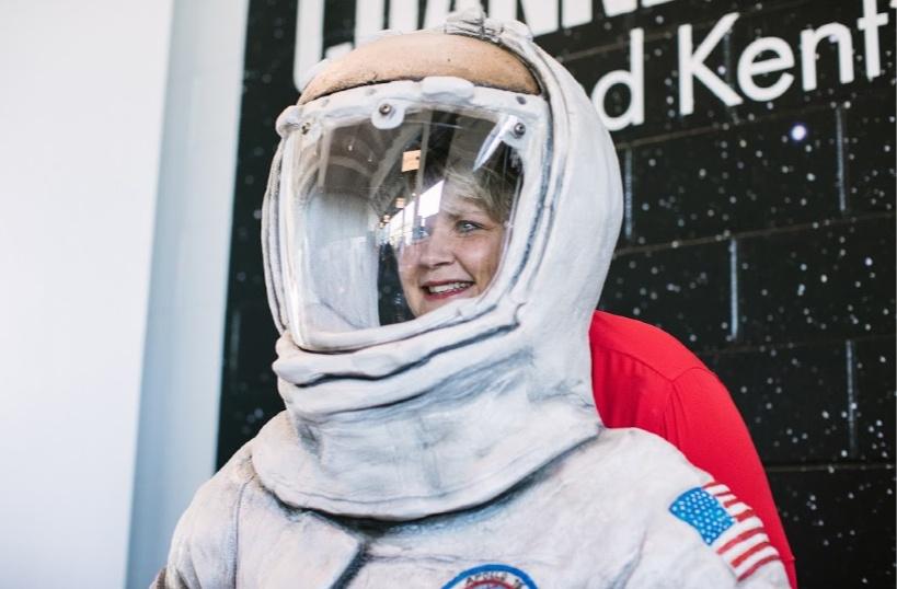 Astronaut photo op