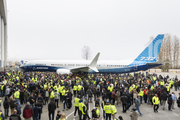 Boeing 737 MAX 10 rollout