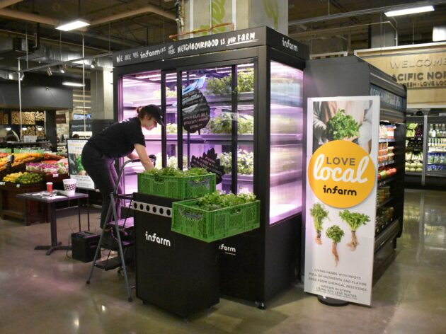 Infarm Plants Its Vertical Farms In Qfc Grocery Stores Geekwire