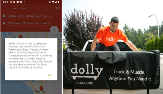 Moving app Dolly blocked by Washington regulators in ongoing gig economy dispute