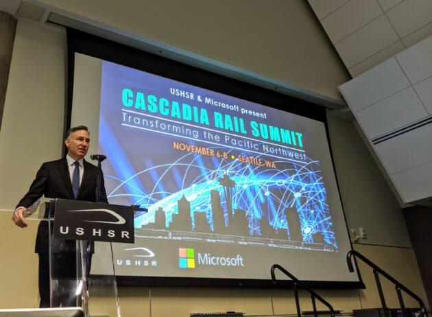 Les coupes imminentes dans le transit jettent un doute sur la vision de Microsoft concernant le train à grande vitesse Seattle-Vancouver – Newstrotteur dow constantine 630x462