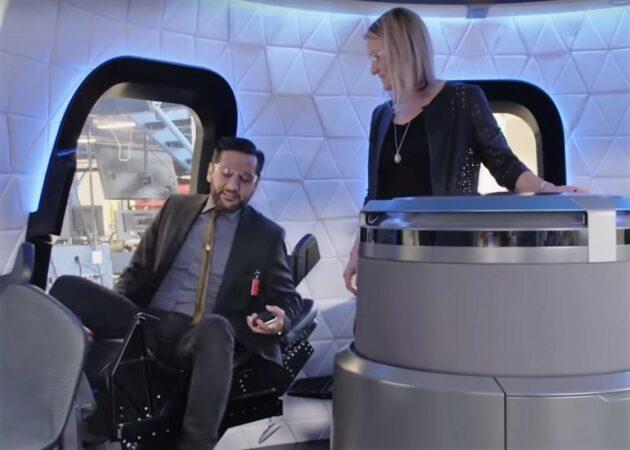 Cas Anvar in New Shepard capsule