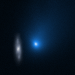 Interstellar comet and galaxy