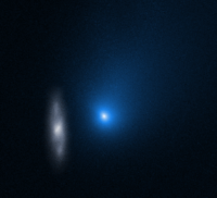 Interstellar comet and galaxy