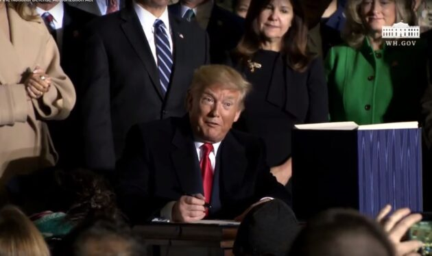 Signing of defense bill