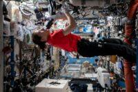 Christina Koch on space station