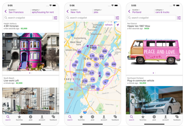 Craigslist moves into the 21st century, launches a very basic Android app