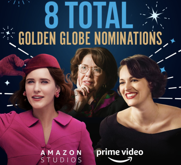 Netflix dominates Golden Globe nominations; Amazon scores 8 across film and television