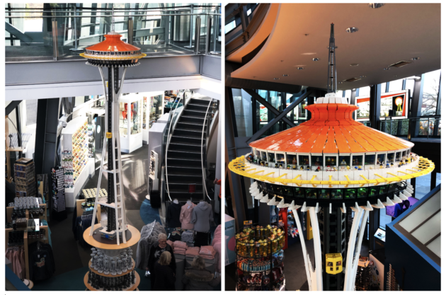 LEGO Space Needle uses 55,000 bricks to create a 14-foot-high tribute to Seattle landmark