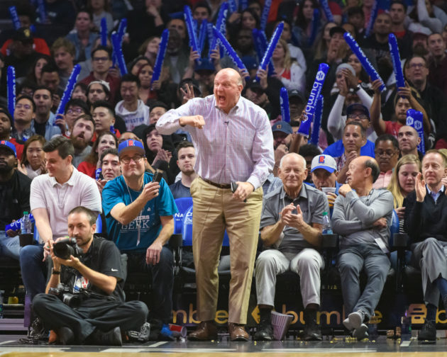 Steve Ballmer can't sit courtside for NBA action, but he applauds innovation and use of Microsoft Teams