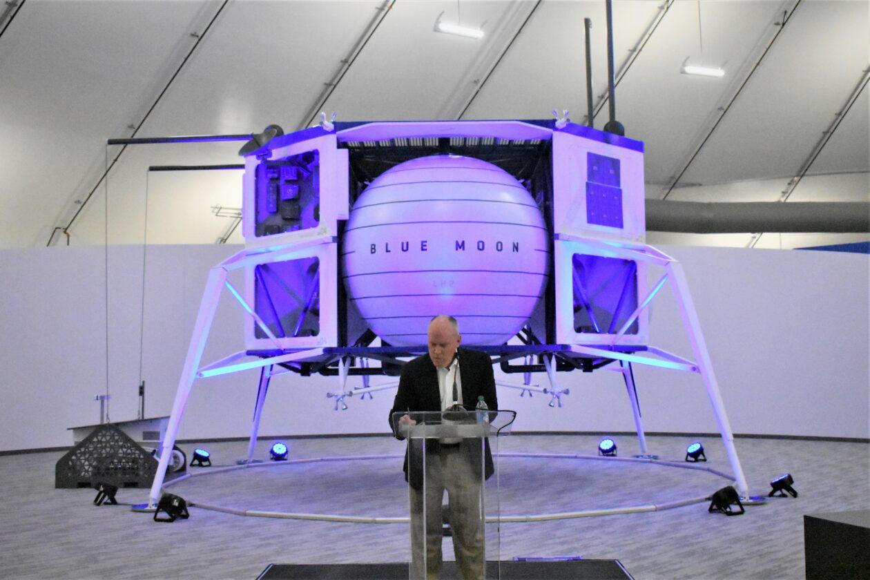 Bob Smith and Blue Moon lander mockup
