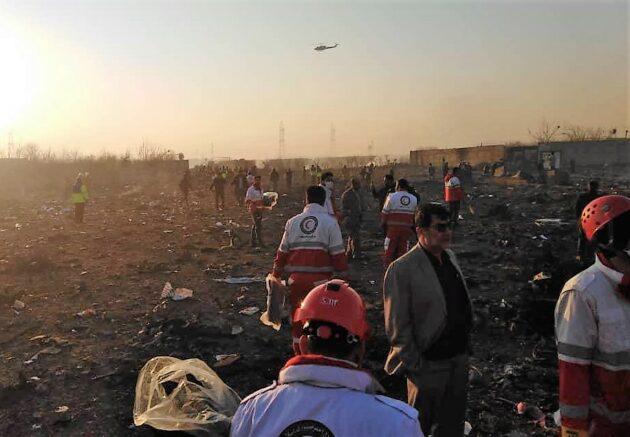 737 crash site in Iran