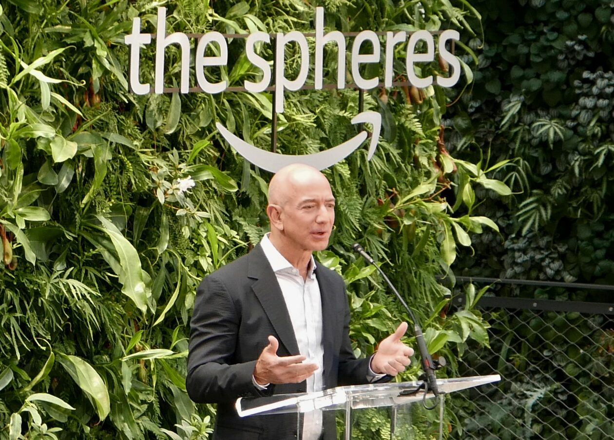 Jeff Bezos at Amazon Spheres