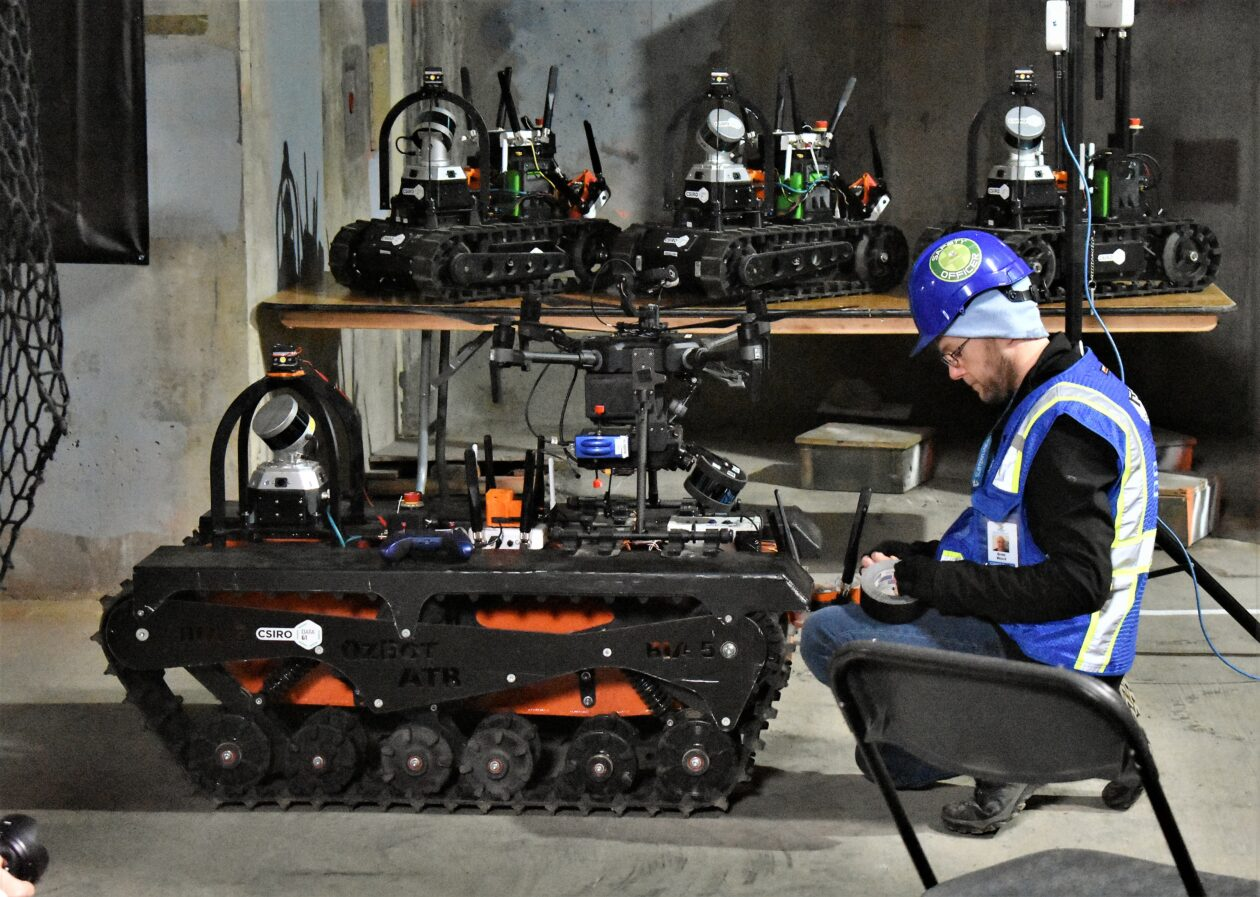 Robots and their masters take over nuclear plant for DARPA's Subterranean Challenge