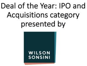 Awards 2020 Deal IPO sponsor WSGR