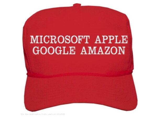 Donald Trump Celebrates 'MAGA' Trillion Dollar Tech: Microsoft, Apple, Google, Amazon